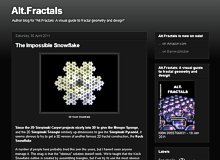 Alt.Fractals blog page screenshot