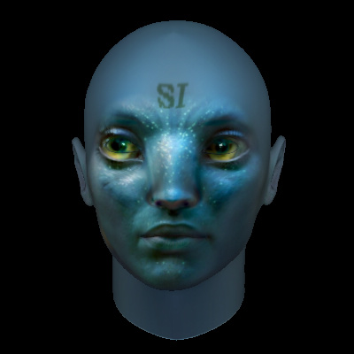 sample 3d Head (James Cameron's Avatar)