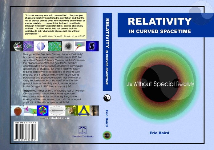 "Cover Art for ""Relativity in Curved Spacetime"", ISBN 978-0-9557068-0-6, (c) Eric Baird 2007"